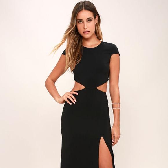 Lulus Dresses Conversation Piece Black Backless Maxi Dress Lulus